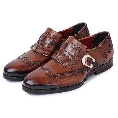 Lethato Men's Wingtip Brogue Kiltie Monk Strap Loafer Dress Shoes | Loafers & Slip-Ons