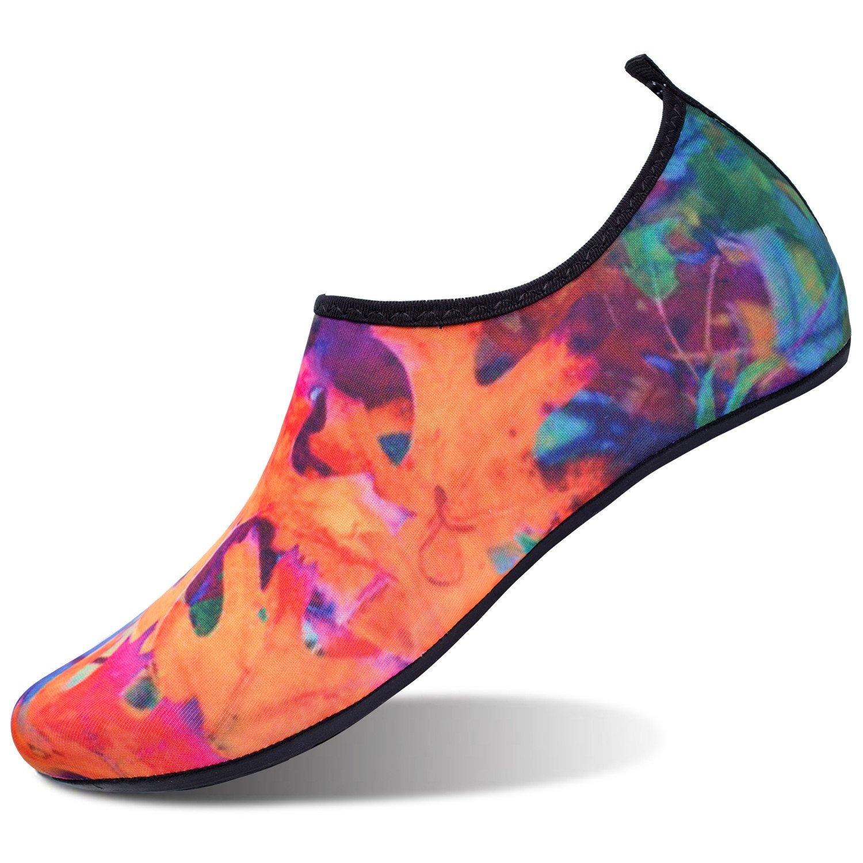 L-RUN Womens Water Shoes Summer Beach Swim Shoe Aqua Sock Koralle M(W:6.5-7.5)=EU37-38