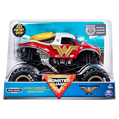 Monster Jam - Wonder Woman Truck, Die-Cast Vehicle, 1:24 Scale …: Toys & Games