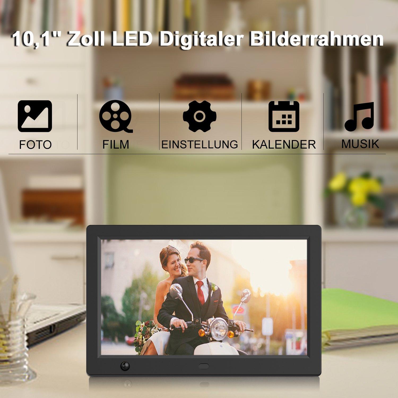 Digitaler Bilderrahmen 10.1 Zoll, ICOCO 1920*1080P IPS: Amazon.de ...