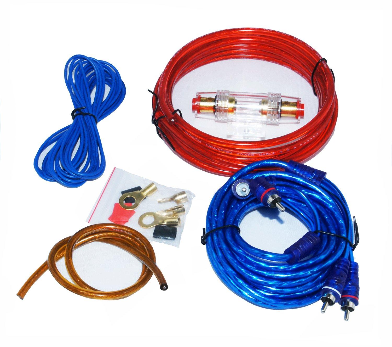 HTS mj-8 altoparlante professionale cavo RCA amplificatore di installazione di cablaggio Kit per Auto 1500 Watts Max, Car Audio e Car Audio Stereo, Sistema Audio per auto MONTALINA