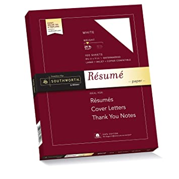 southworth cotton resume paper 24lb 8 x 11 white