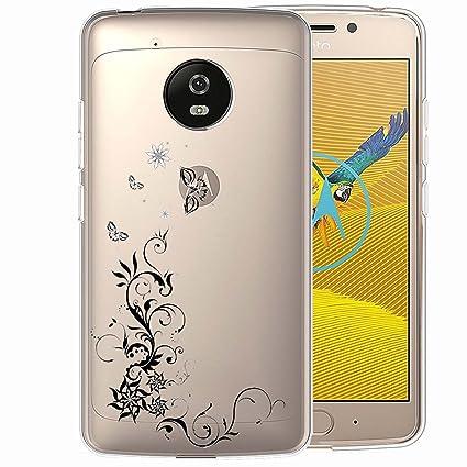 ocketcase Moto G5 Funda, TPU Carcasa Suave Silicona Flexible Gel Funda Resistente a los Arañazos Tapa Protectora Case Cover para Lenovo/Motorola Moto ...