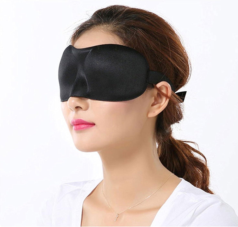 morbida offre una protezione 3D ideale per dormire e riposare mascherina da viaggio per occhi nera Switty