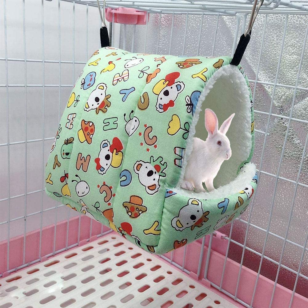 Soft Hamster Hammock Guinea Pig Hamster Tent Bed House Winter Fleece Squirrel Hedgehog Chinchilla Rat House Cage Nest Bed Hamster Accessories QUUY Winter Warm Hamster Bed