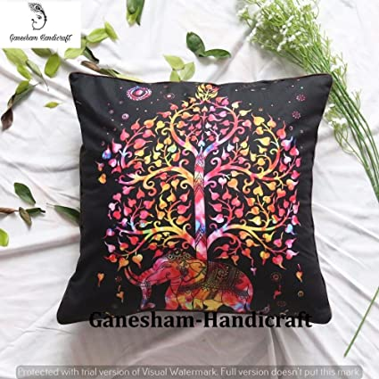 Amazon Indian Elephant Bohemian Tapestry Square Meditation Best Square Floor Pillow Insert