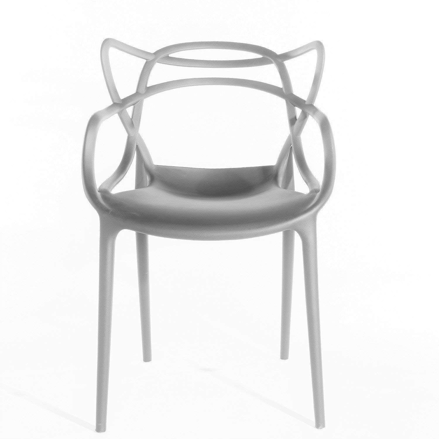 Niches Designer Inspired Master Chair UK - Indoor/Outdoor Stack-able  Kitchen Grey Ultra Modern Dining Cafe, Restaurant, Bar, Canteen Chair  Stylish