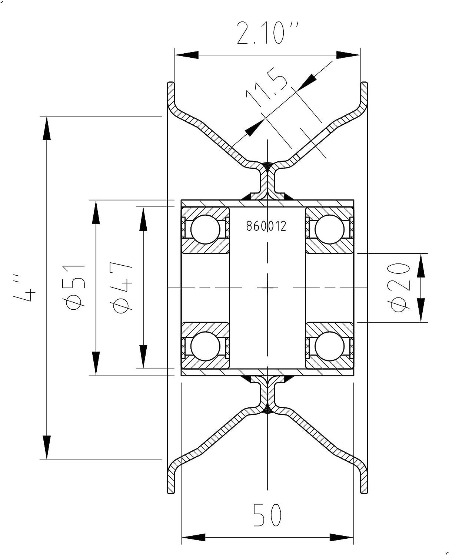 Komplettrad 3.00-4 4PR Kenda K406-3 Rib 20x50mm Nabe