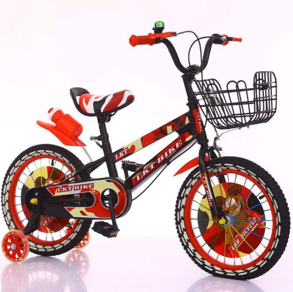 BICYCLE AB Original 12-16 Pollici Bambino Bici da Bambino Bici da Bicicletta Bici da Bicicletta Blu Ruote da Allenamento parafango Bottiglia d'Acqua, Freestyle Boy's Girl Bambini Bambini Bambino Bici