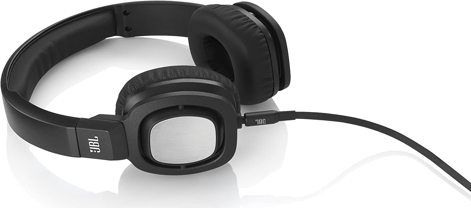 JBL J55 High-Performance On-Ear Headphones with JBL Drivers and Rotatable Ear-Cups - Black