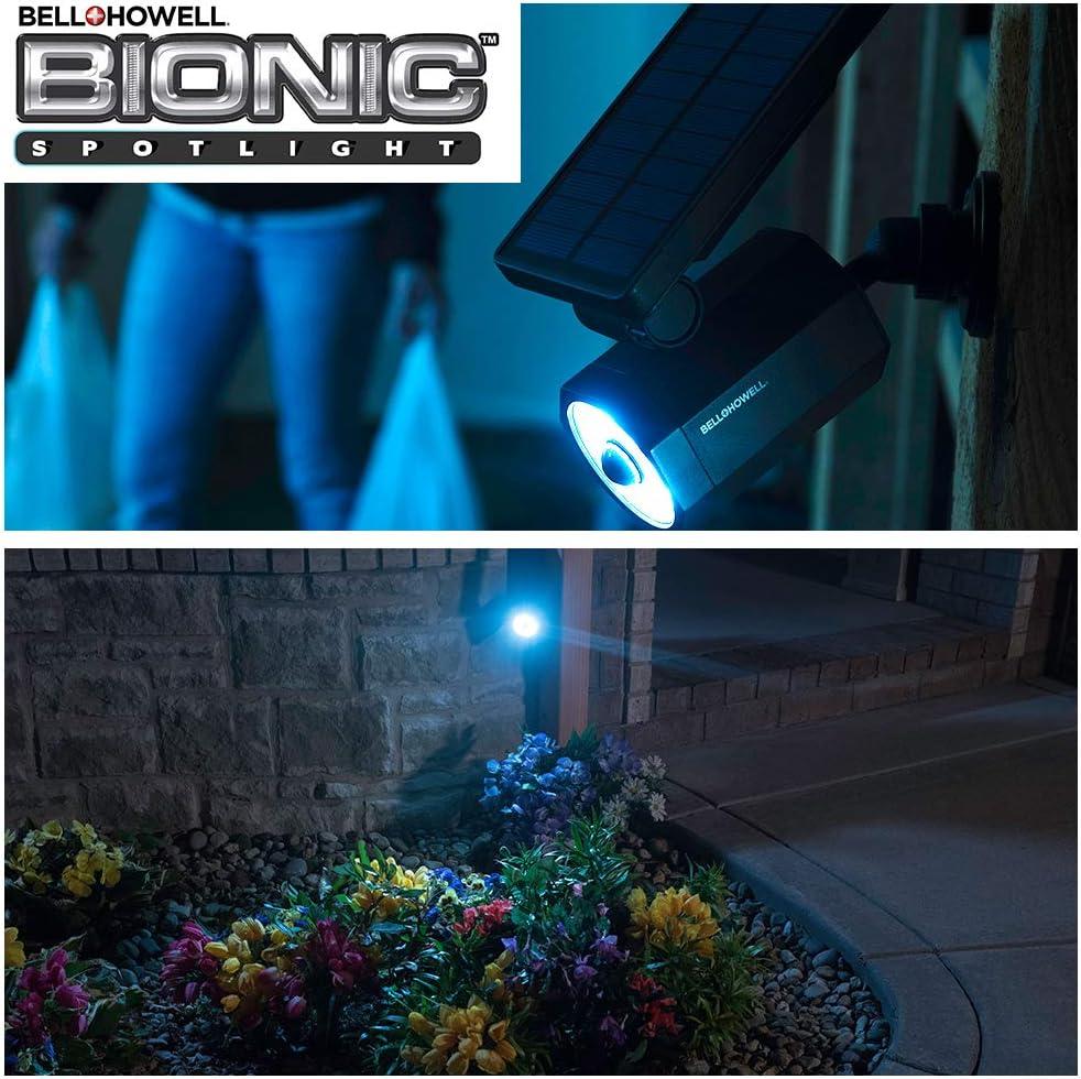 Sun Panels Yard and Outdoor Lighting As Seen On TV Waterproof Frost Resistant Patio Bell+Howell Bionic Spotlight 2963 Solar Spot Light with 25 Feet Motion Sensor