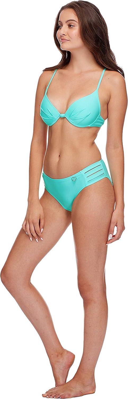 Body Glove Women's Greta Molded Cup Push Up Underwire Bikini Top Swimsuit, Sea Mist xCONx