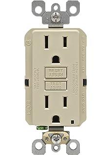 leviton gfnt1 i self test smartlockpro slim gfci non tamper leviton n7599 i 15 amp 125 volt smartlock pro slim non tamper