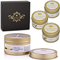 Scentalicious Scented Candles Gift Set, 100% Soy Wax - Lavender, Eucalyptus, Jasmine, French Vanilla - Aromatherapy…