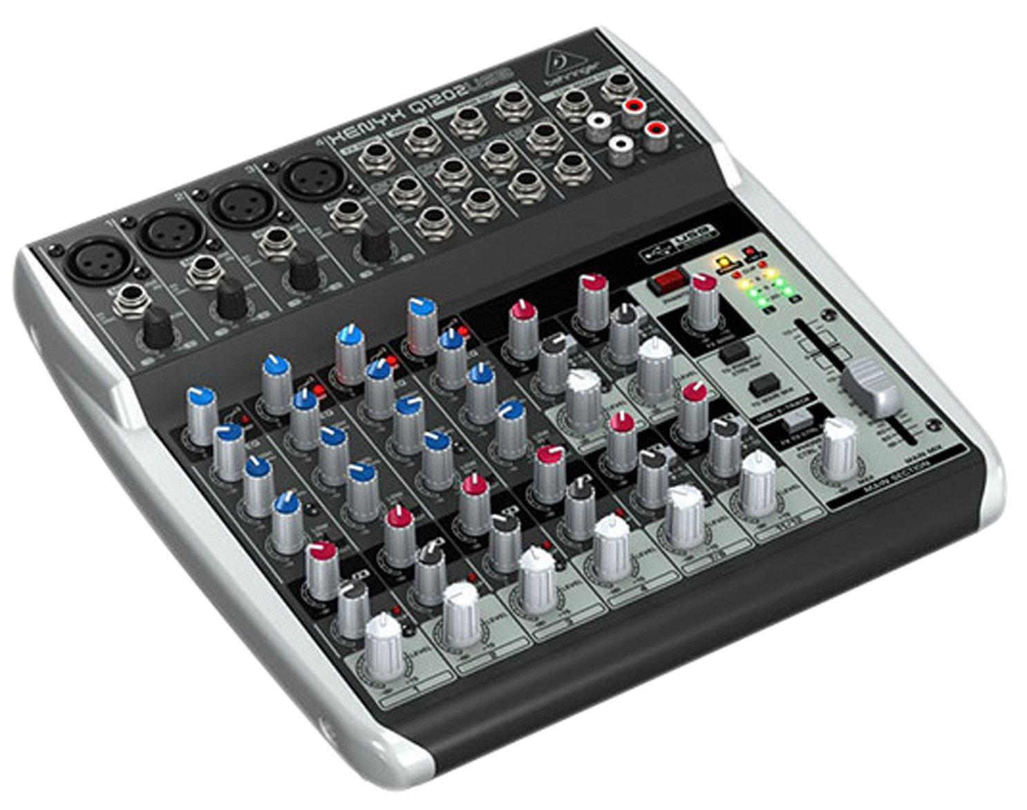 Behringer Q1202USB Xenyx Premium 12 Kanal 2-Bus Mixer mit Mic Preamps//Kompressoren//British EQs Und USB//Audio Interface