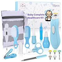 Baby Healthcare and Grooming Kit, 18 in 1 Baby Electric Nail Trimmer Set, Lupantte...
