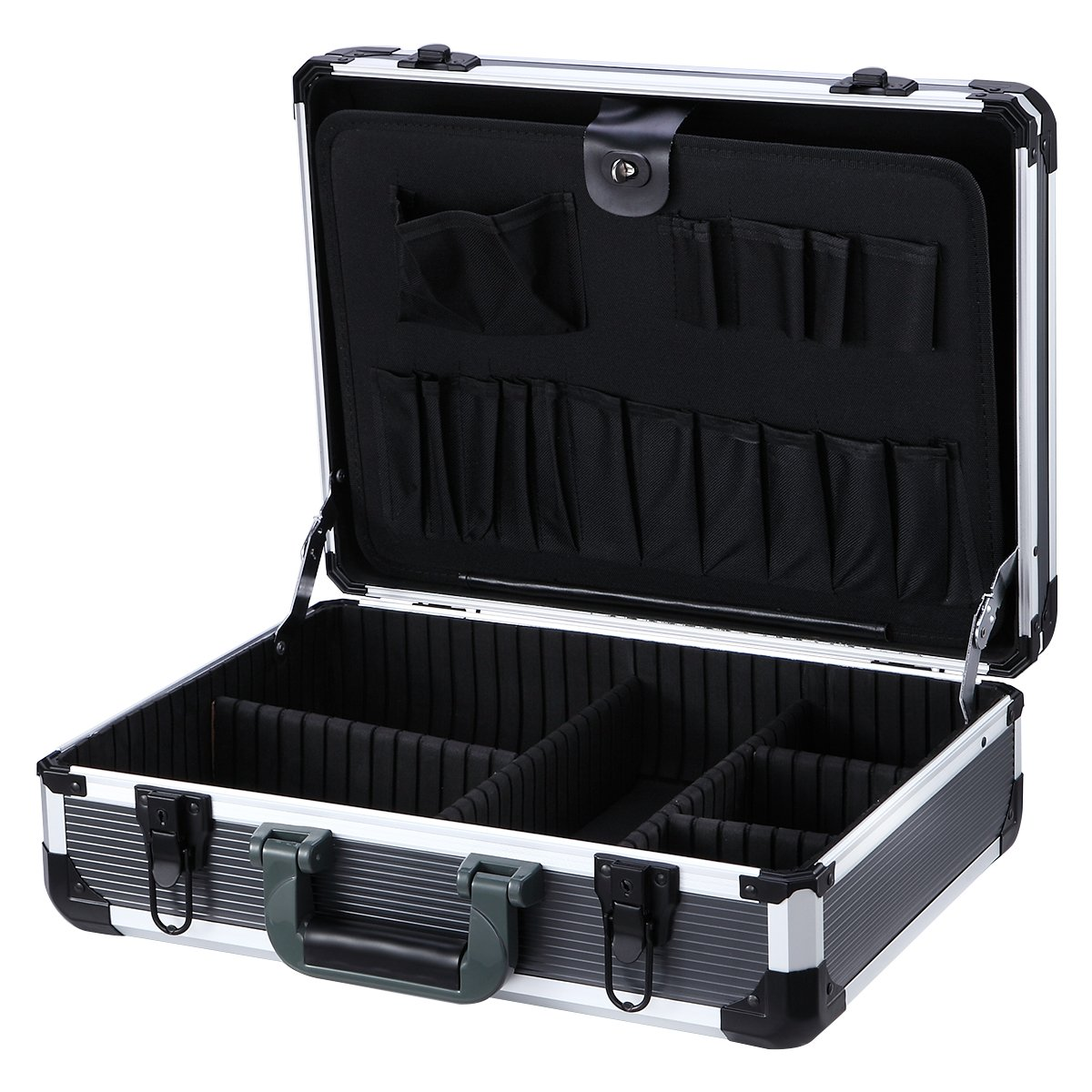 Aluminum Hard Tool Case Can Storage All Your Tools in One Toolbox, 17.7''Length,13''Width, 5.9'' Hight450K+Tool Packets