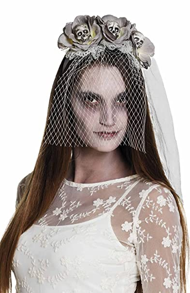 Boland Tiara Sposa Cadavere Zombie Skulls con Velo 8b1e7926acc0