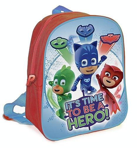 PJ Masks Héroes En Pijamas A95770 Mochila Infantil, 27 Centímetros, Multicolor, Gatuno,