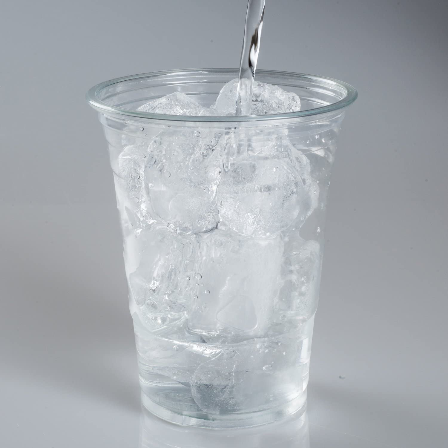 16 Ounce Plastic Drink Cups Ice Coffee Cups To Go TashiBox 100 Count Crystal Clear PET Party Cups
