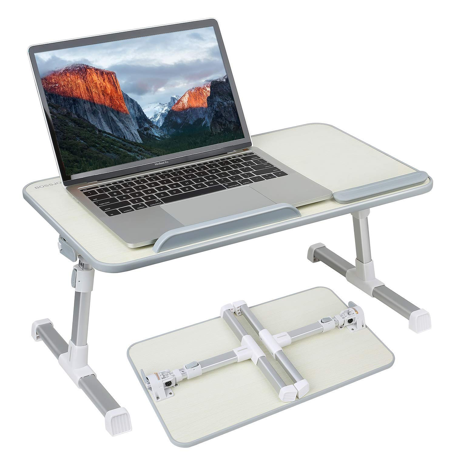 Adjustable Foldable Laptop Desk Table Vented Stand Holder Bed Detachable Tray US