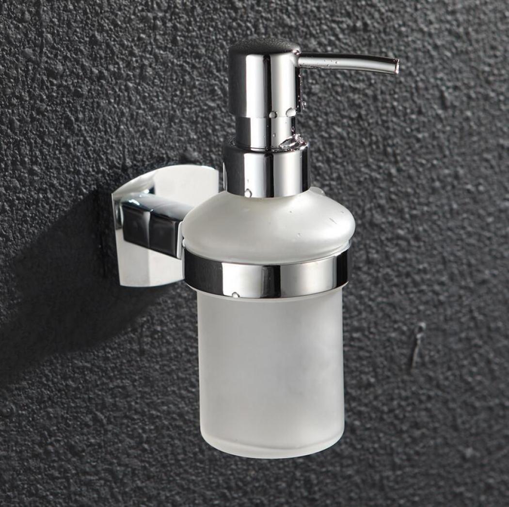 Soap Dispenser Liquid Hand Soap Dispenser Hotel Family Villa Dedicated Soap Shower Gel Container Copper Base Glass Bottle
