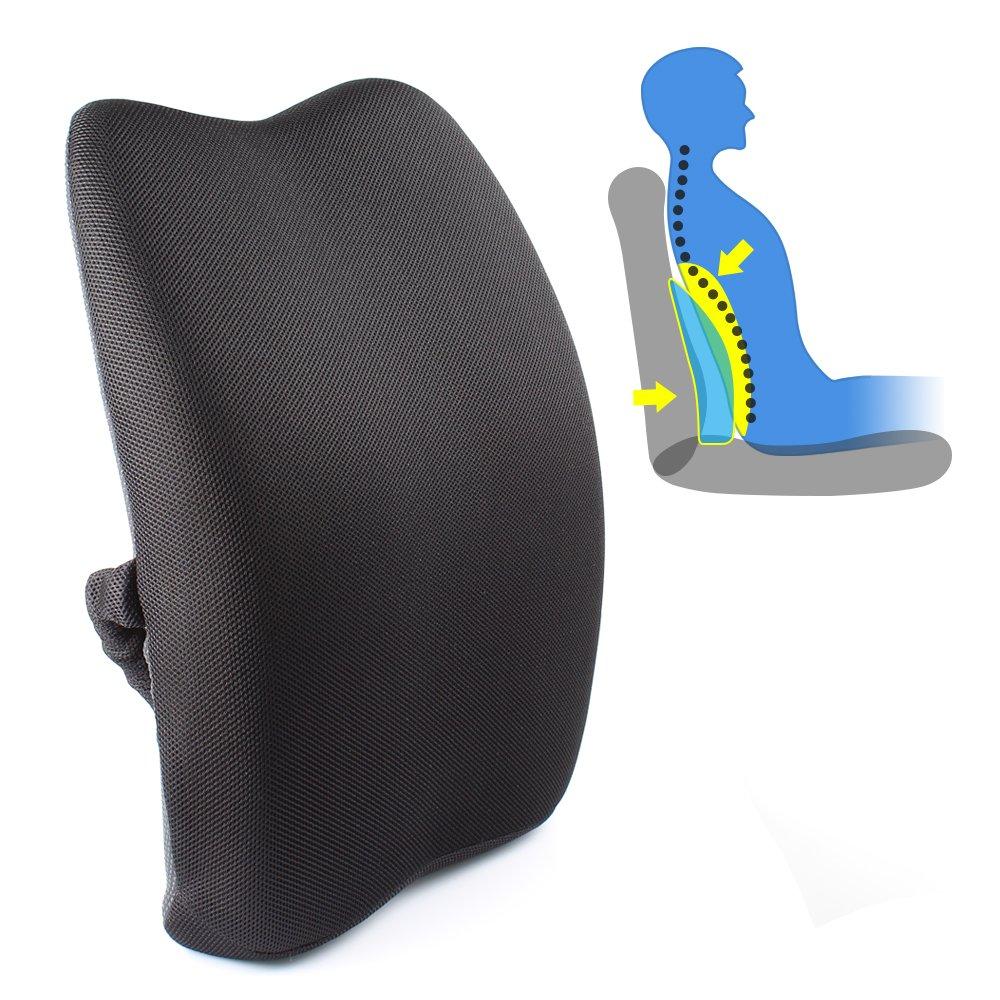 Mkicesky Orthopedic Memory Foam Lumbar Back Support