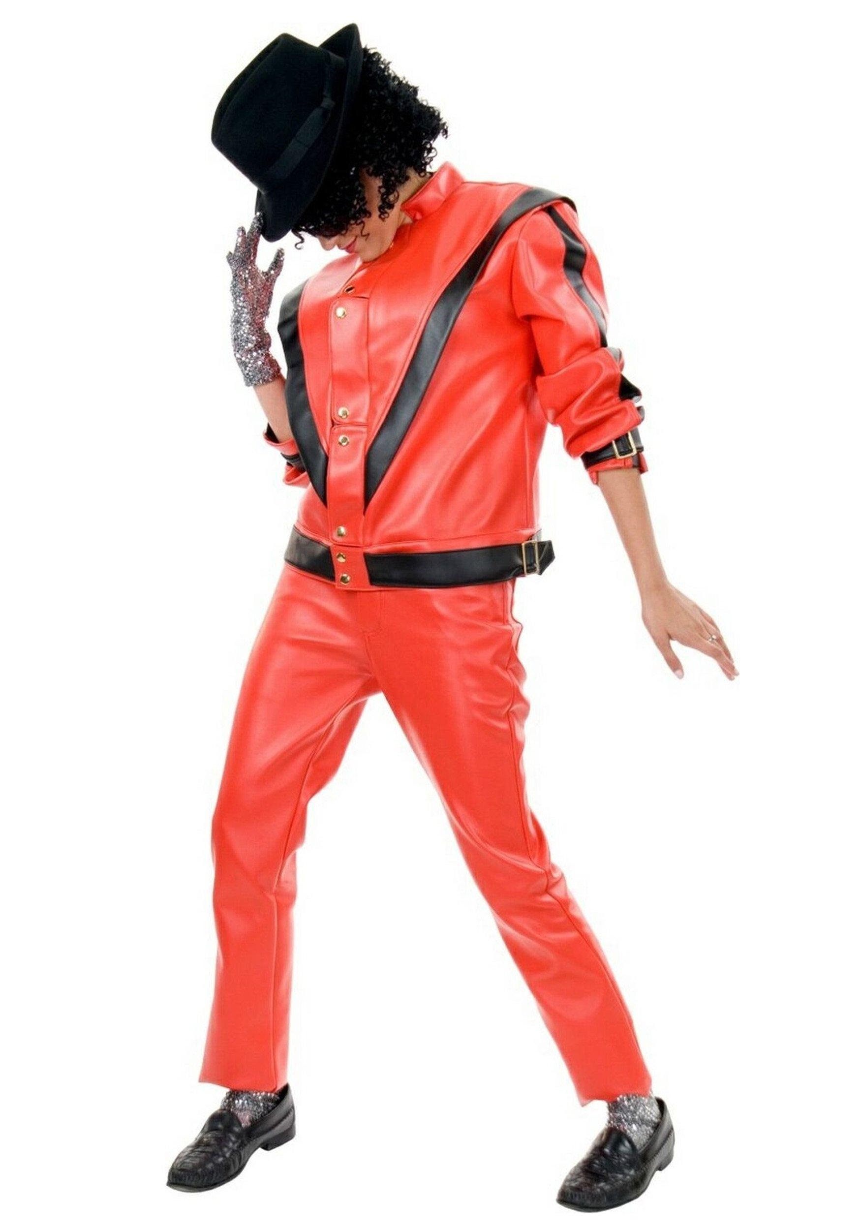 Charades Men's Michael Jackson Thriller Jacket, Red/Black, Small