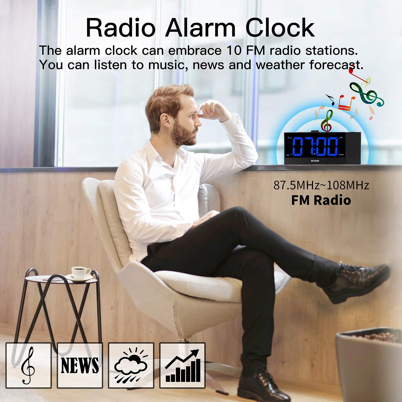 MIZHMI - Reloj despertador de proyección con pantalla LED de ...