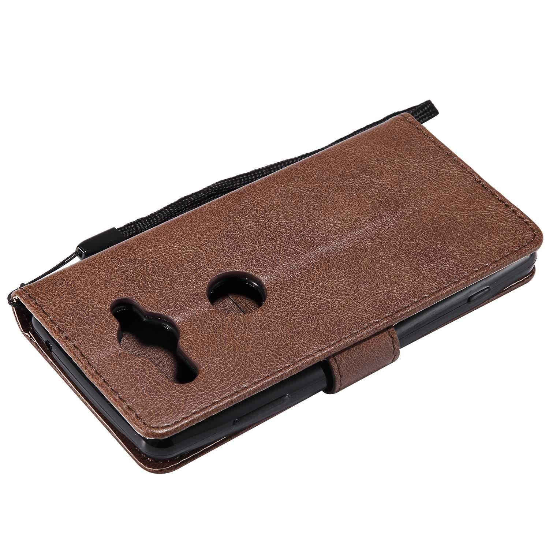 pour Sony Xperia XZ2 Compact GORASS Coque de Maintien TPU en Cuir Synth/étique Housse /à Clapet Languette Aimant/ée Portefeuille avec Fentes de Cartes Rose Coque Sony Xperia XZ2 Compact