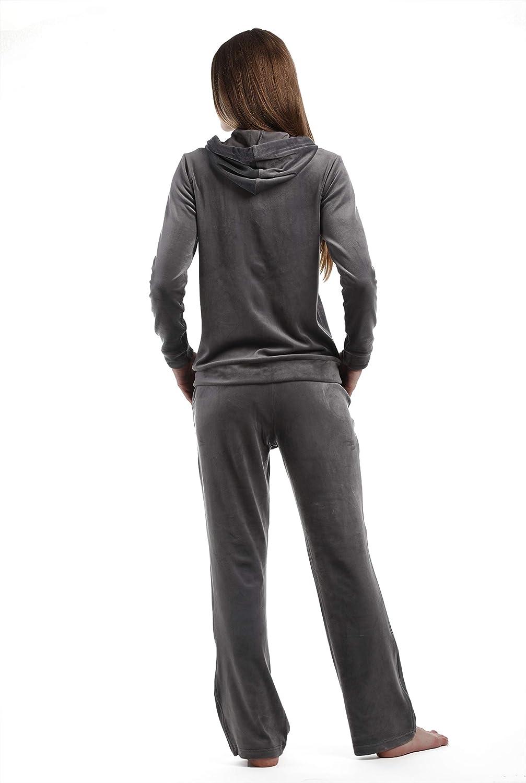 Dolcevida Womens Velour Tracksuits 2 Piece Outfits Hoodie /& Sweatpants Sweatsuit Set