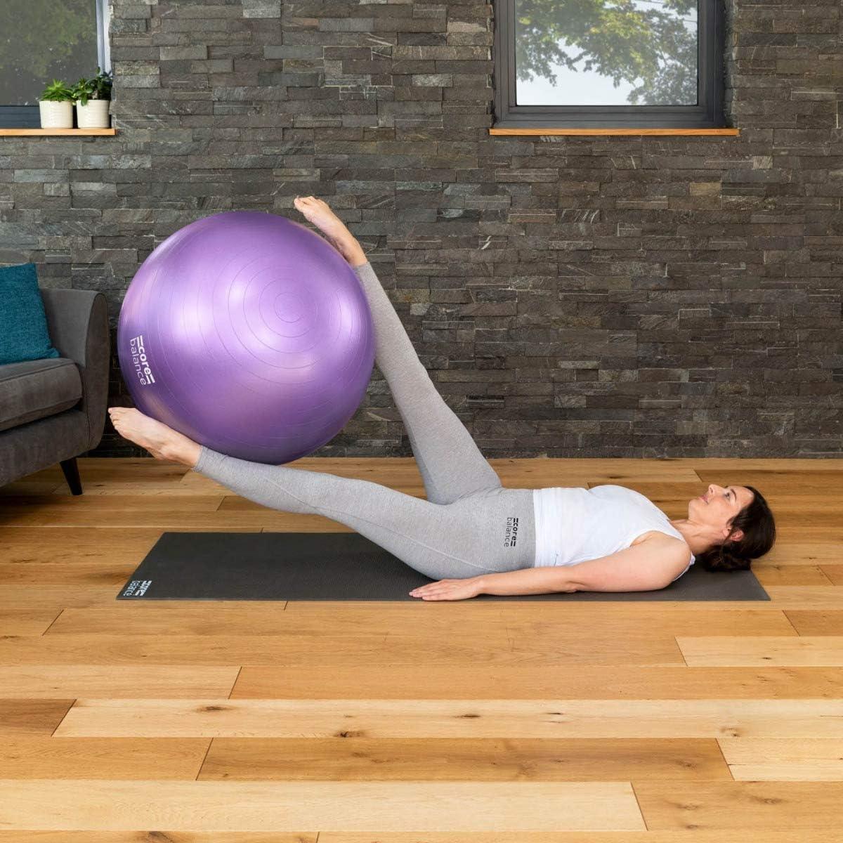 Fitball para Ejercicios Gimnasia Fitness Yoga Tama/ño 55cm 65cm 75cm 85cm Muy Resistente Embarazo Hinchador Incluido CORE BALANCE Pelota de Pilates