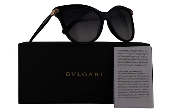 Amazon.com: Bvlgari bv8188b anteojos de sol Negro w/gris ...