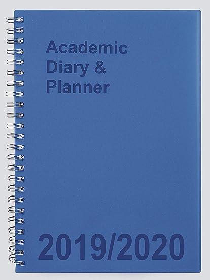 Agenda escolar 2019-2020 A5 Semana a Vista, espiral azul ...