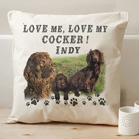 Cushions I Love My Cocker Spaniel Cushion Gift For Dog With Pad Included Home Decor