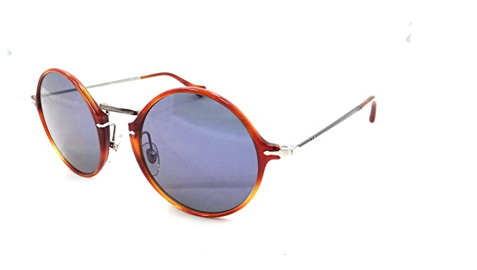 a9111b08614d7 Persol Sunglasses 3091 S M 96 56 49x21 Light Havana   Blue Lens Made in  Italy