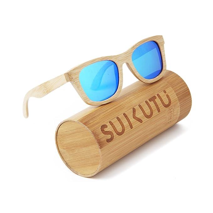 7bd6b6746e SUKUTU bamboo gafas de sol de marco liviano de madera gafas polarizadas  para mujer gafas para