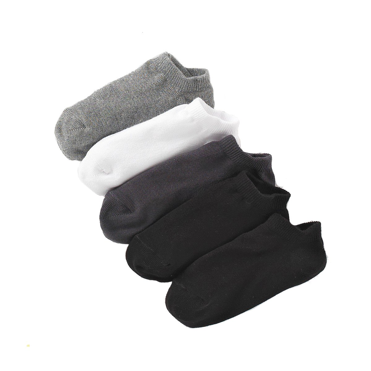 La Redoute Collections Big Boys Pack Of 5 Pairs Of Plain Ankle Socks Grey Size 27/30