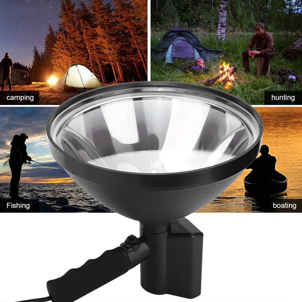 Leistungsstarke 100W 12V LED Camping VERSTECKTE Lichtjagd Spotlight Arbeitsscheinwerfer LED Au/ßenaufnahmen Suchen tragbare Lichter Riuty VERSTECKTE Handscheinwerfer