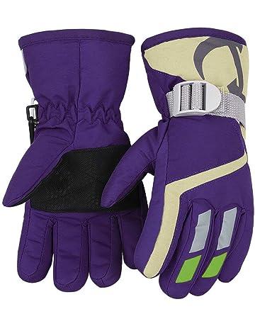 Gloves & Mittens Mother & Kids Baby Gloves Boys Girls Glove Snowflake Embroidered Kids Ski Outdoor Sports Children Mitten Waterproof Windproof Mittens