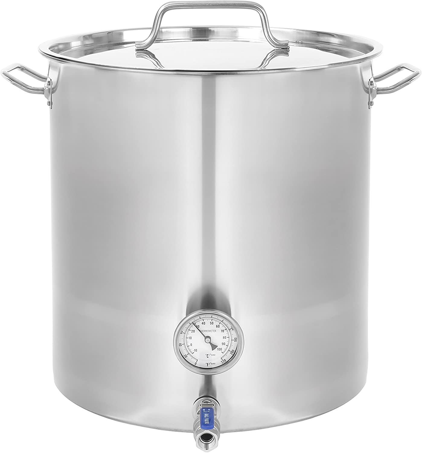 CONCORD Stainless Steel Home Brew Kettle Stock Pot (Weldless Fittings) TRIPLY BOTTOM VERSION (100 QT/ 25 Gal)