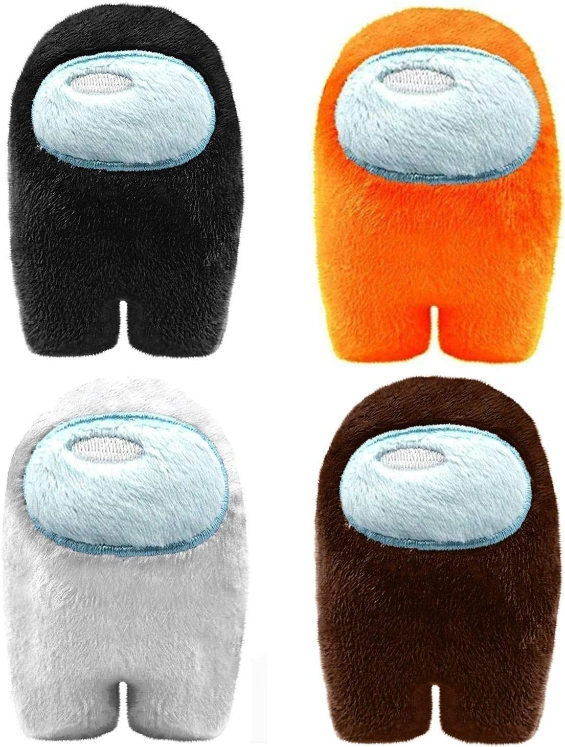 Among Us Game Plush Toys Soft Stuffed Animals Imposter Plush Squeak Plushie Figure 4.3 inch Pack of 4