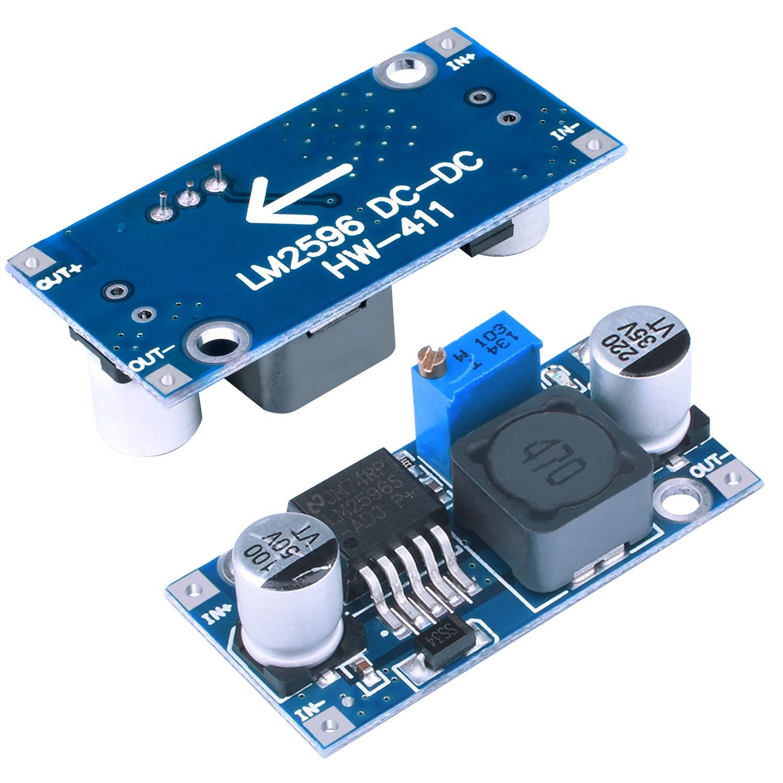NOUVCOO Step-Down Power Module 3A Adjustable Buck Regulator NZ01 6 Pack LM2596S DC-DC Buck Converter