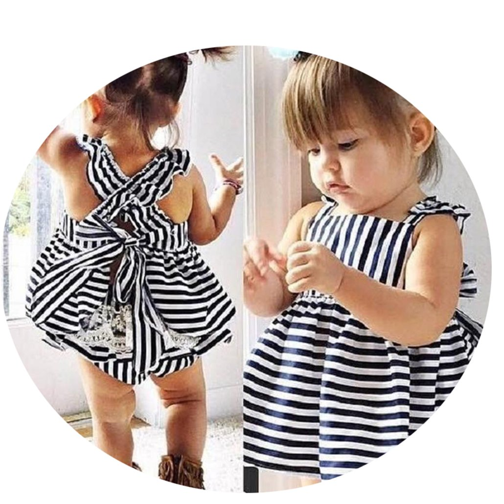 Girl Clothing Set Baby Wedding Suits Princess Stripe Kids Clothing Girls Clothes