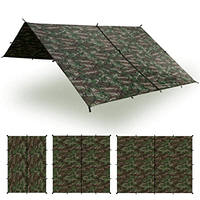 RT 13 x 10 ft of Camo Large Waterproof Tarp Camping Tent Accessories: Garden & Outdoor