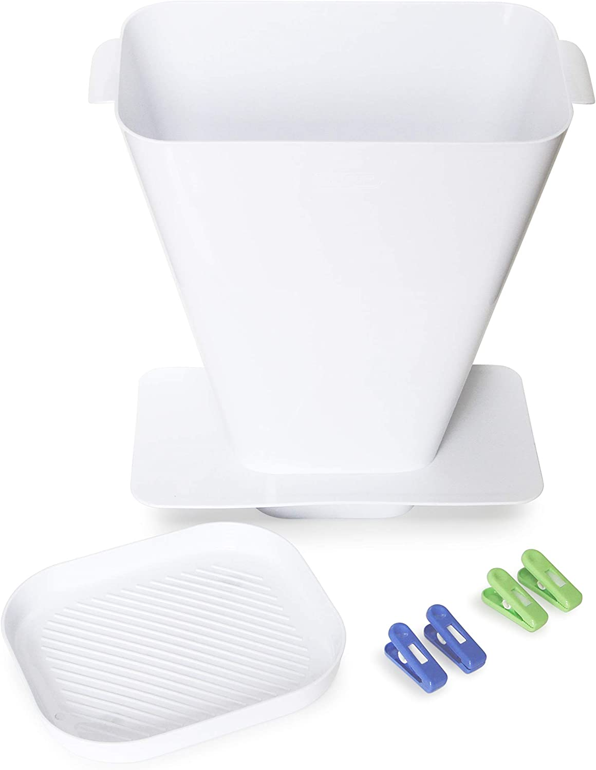 SimplyImagine SprayStand - Cloth Diaper Sprayer Splatter Shield - Contains Spray and Debris When Rinsing Cloth Diapers, Clothing, Shoes, and More in Toilet Spray Bucket Pail