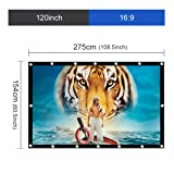 UTSLIVE 120 Inches 16:9 Simple Projector Screen