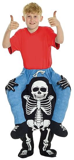 Funny Kids Halloween Costumes.Amazon Com Uhc Boy S Skeleton Piggyback Outfit Funny Theme