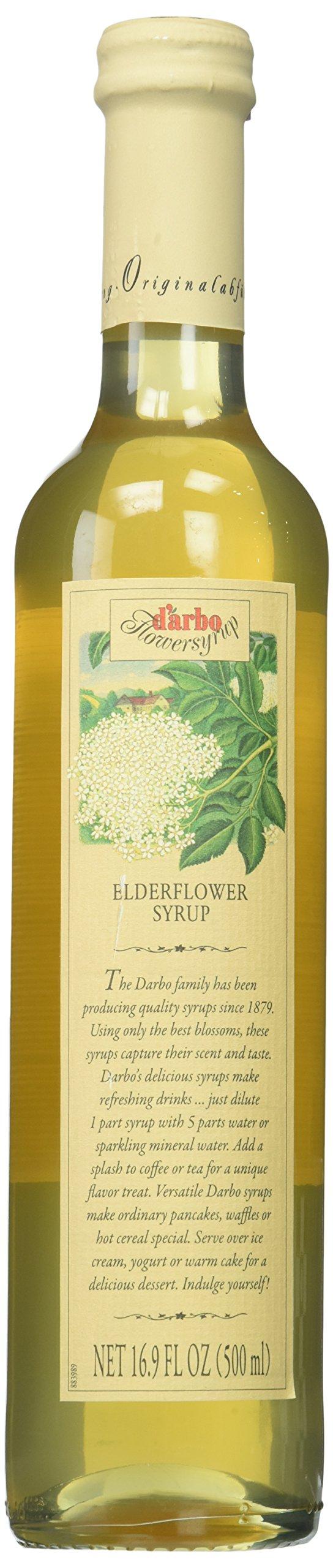 2 Pack D'arbo Elderflower Syrup 500 ml Each (Pack of 2 )