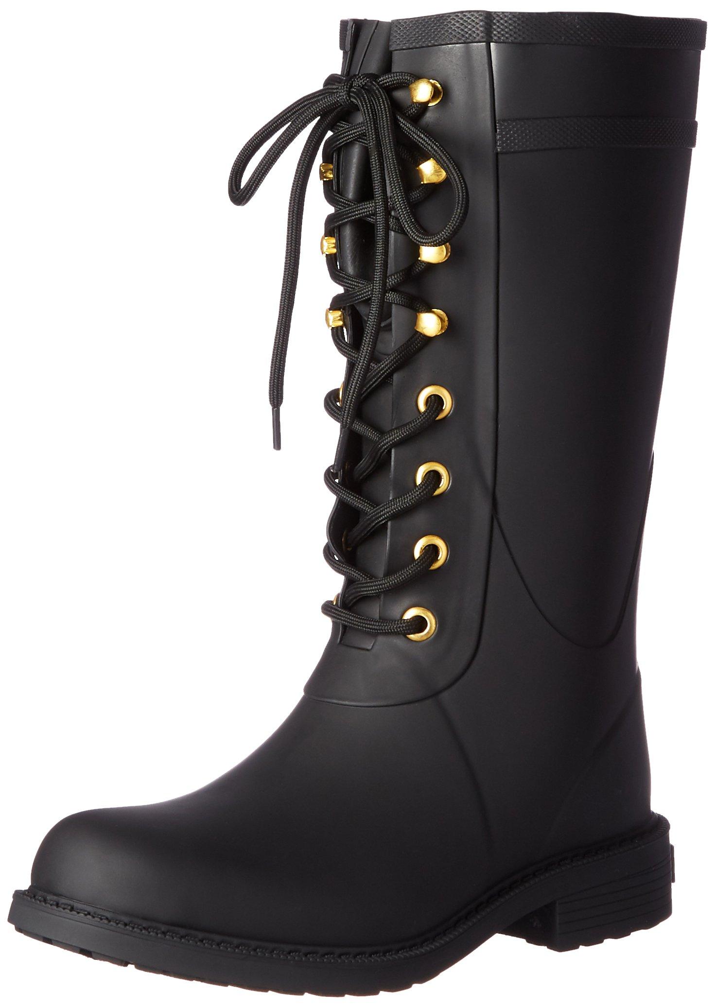 Sam Edelman Women's Kay Rain Boot, Black, 6 M US